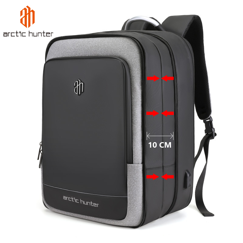 40L Large Capacity Mens Expandable Backpacks USB Charging Male 17 Inch Laptop Bags Waterproof Business Travel Mochila Men