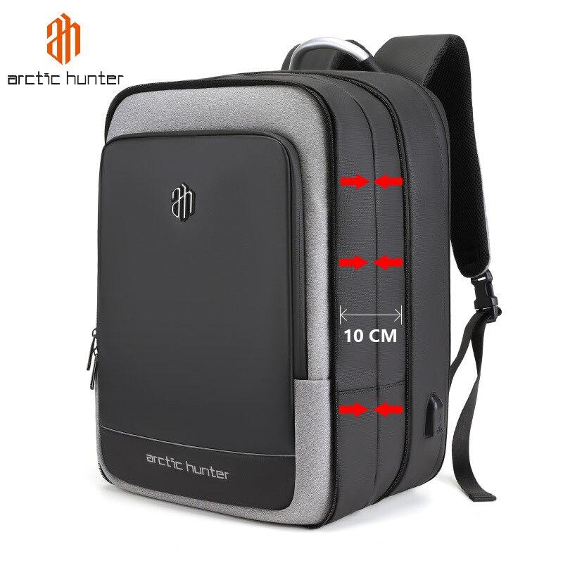 40L grande capacité hommes extensible sacs à dos USB chargement mâle 17 pouces sacs pour ordinateur portable étanche voyage d'affaires Mochila hommes