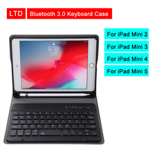 Bluetooth 3.0 Tablet Keyboard Case For iPad Mini 2/3/4/5 7.9 inch Mediapad PU Flip Leather Protective Cover For Apple iPad Case for apple ipad mini4 aluminum alloy removable wireless bluetooth keyboard pu leather case cover for apple mini 4 7 9tablet