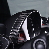 Car Speedometer Carbon fiber decorative frame Center console combination meter stickers for smart fortwo forfour 453 car styling
