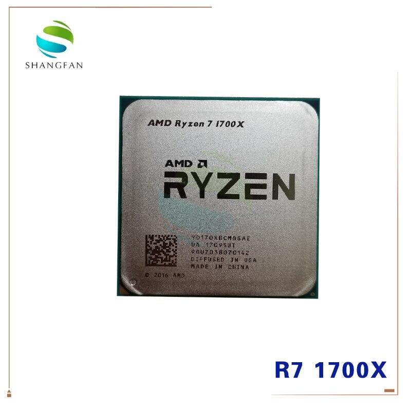 AMD Ryzen 7 1700X R7 1700X 3.4 GHz Eight-Core CPU Processor YD170XBCM88AE Socket AM4