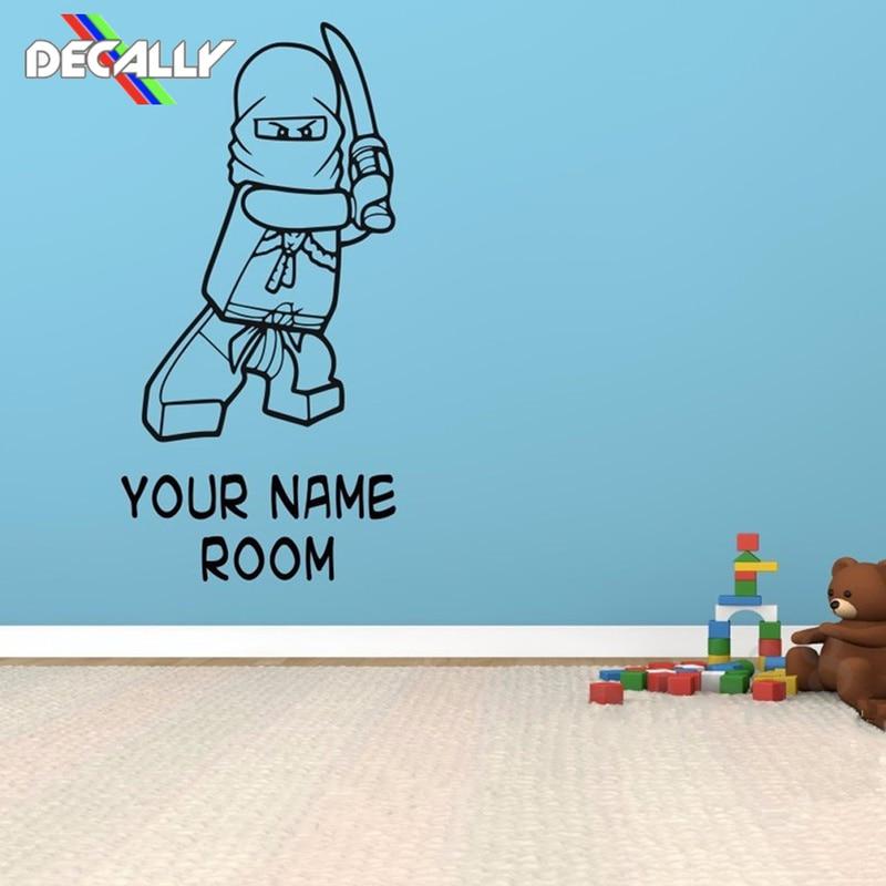 Bedoom Add any name! Personalised Lego Ninjago Childrens Wall Sticker Decal