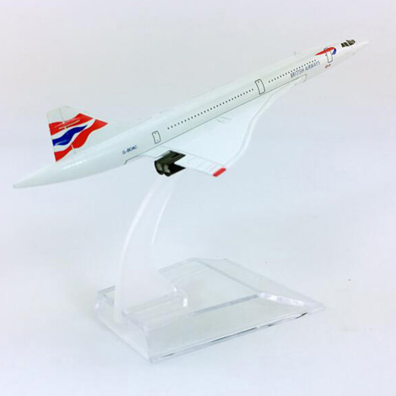 1/400 concorde British Airline Supersonic speed airplane model with base 16CM alloy classic plane collectible display model toy image