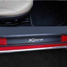 4 шт., порог двери из искусственной кожи из углеродного волокна для Citroen Xsara, порог двери автомобиля, накладка, протектор, автомобильные аксес...