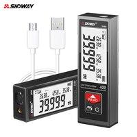 Medidor de distancia láser SNDWAY, telémetro electrónico de Cinta Digital, cinta de Trena, 40M, 50M, 60M