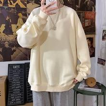 LEGIBLE-Sudadera con capucha para mujer, de gran tamaño, de algodón, suelto, espesamiento sólido, cálido, moda de talla grande 5XL, otoño 2020