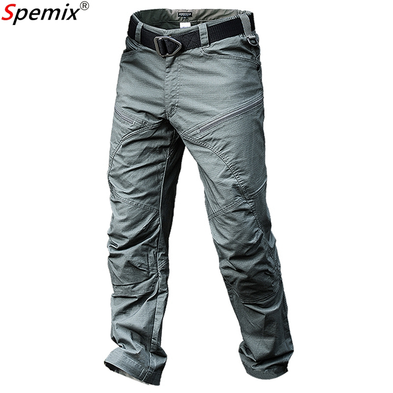 Men's Waterproof Tactical Pants Male Jogger Casual Cargo Pants Urban Combat Trousers Multi Pockets Ripstop Army Military Style