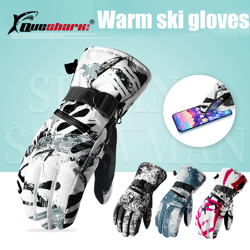 Men Women Winter Warm Waterproof Skiing Gloves Touch Screen Snow Mittens  With Pocket Climbing Hiking Fishing Cycling Gloves