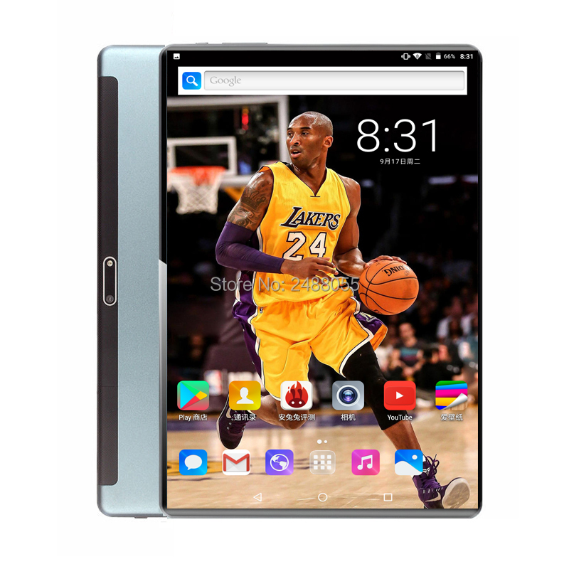 2020 Android 9.0 10 Inch Tablet Octa Core 3G 4G FDD LTE 6GB RAM 64GB ROM Dual Cameras 1280x800 2.5D Glass IPS GPS Tablets 10
