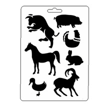 Farm Animal Stencil Reusable Scrapbooking Stamping Embossing Paper Card Drawing Template Decor Crafts Bullet Journal Stencil butterfly reusable stencil for scrapbooking stamping embossing paper card drawing template stencil crafts bullet journal stencil