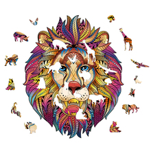 Unique Wooden Cartoon Wooden Lion/Koala /Tiger/Groundhog/Design/Dragon Adult Kids Toy Home Puzzle Jigsaw Pieces Gift TSLM1