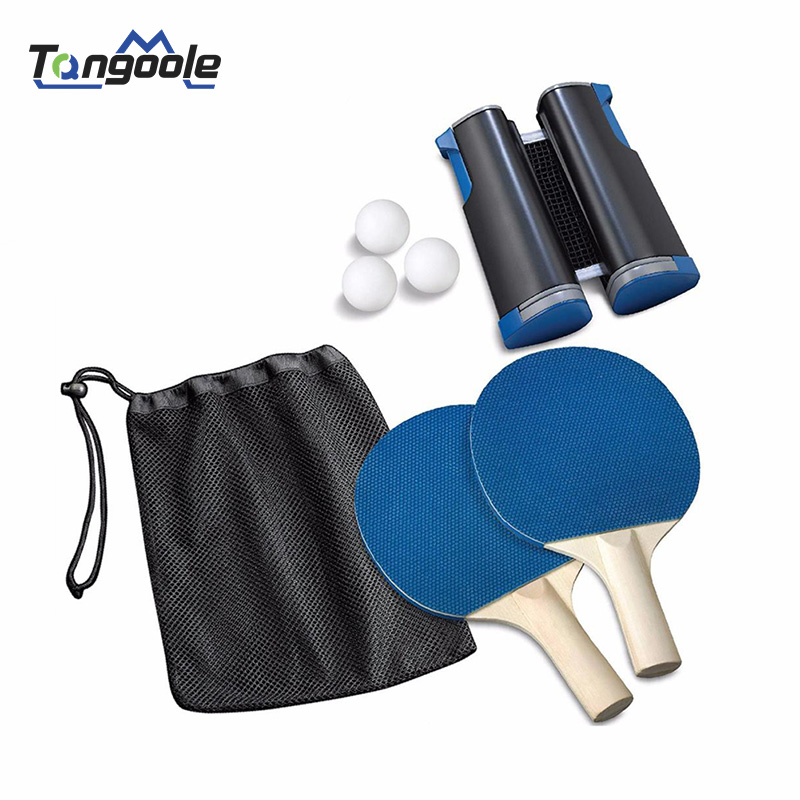 Portable Table Tennis Sports Trainning Set Racket Blade Mesh Net Ping Pong Student Sports Equipment Simple
