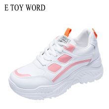 E TOY WORD 2019 New Autumn Women Shoes Breathable Mixed color Ladies Sneakers Fashion Spring Daddy shoes students