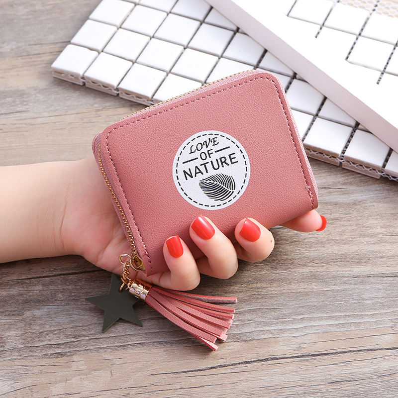 Coin Pouch Simply Understated Canvas Coin Purse for Women White and Pink Change Purse Coin Purse Keychain