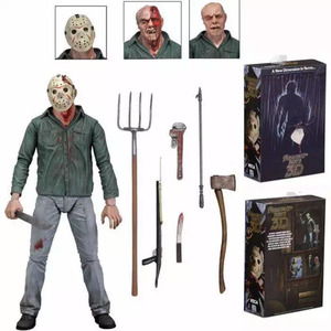 Image 4 - NECA 3D Friday The 13th Deel 3 Jason Moeder PVC Action Figure Speelgoed Pop 18cm