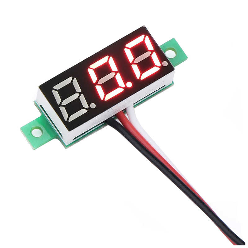 Red LED Panel Display Digital Voltmeter Small 0.36 inch DC 0~~100V 12V Car Automotive Battery Monitor Voltage Meter Gauge