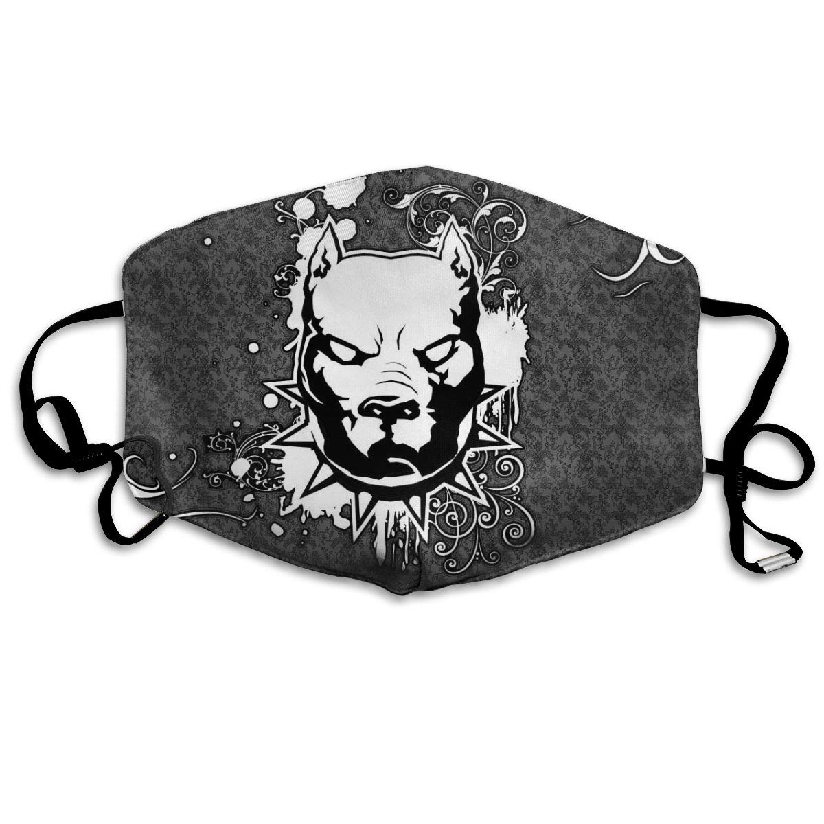 Pitbull Unisex Mask Indoor Outdoor Cycling Camping Travel Windproof Sun Anti Dust Mask Mouth With Adjustable Ear Loops