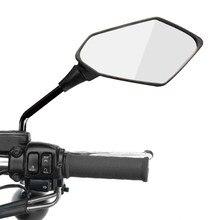 2 Teile/para Motorrad Rückspiegel Roller E-Fahrrad Rückansicht Spiegel Zurück Seite Konvexen Spiegel 8mm 10mm carbon Faser