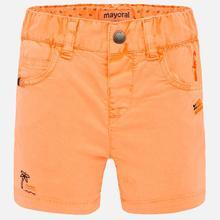 Mayoral-pantalones cortos naranja neón bordados