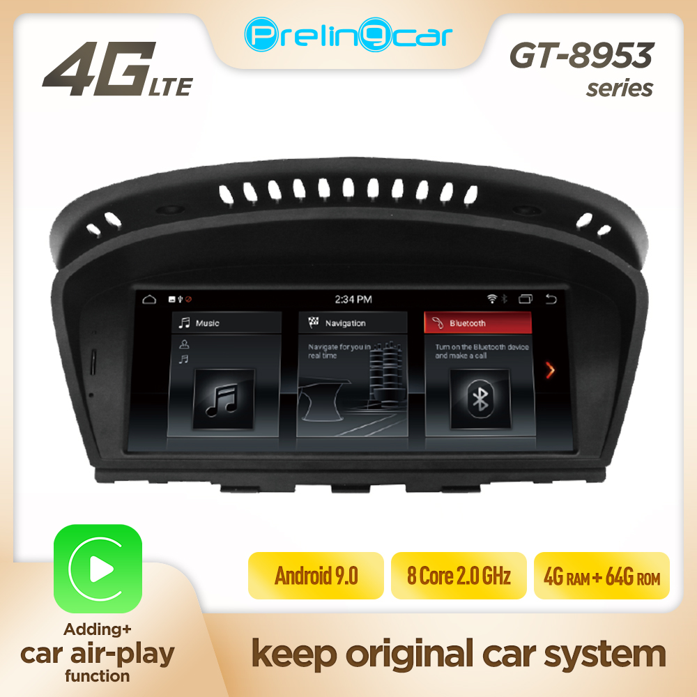 Android IPS 8 Core 4G 64G CAR DVD radio player stereo For <font><b>BMW</b></font> 3 series E60 E90 E92 E93 2004 5 6 7 8 9 Multimedia GPS Navigation image