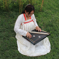 Guzheng Finger Training 21 /14 Strings Professional Hand Fingering Training Device Portable Mini Guzheng