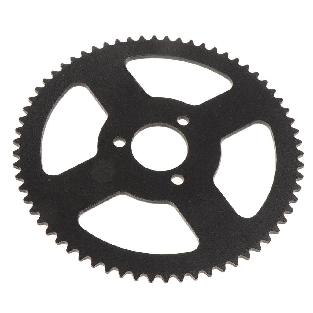 Black Steel 66 Teeth Rear Sprocket For 47cc 49cc Pocket Bike