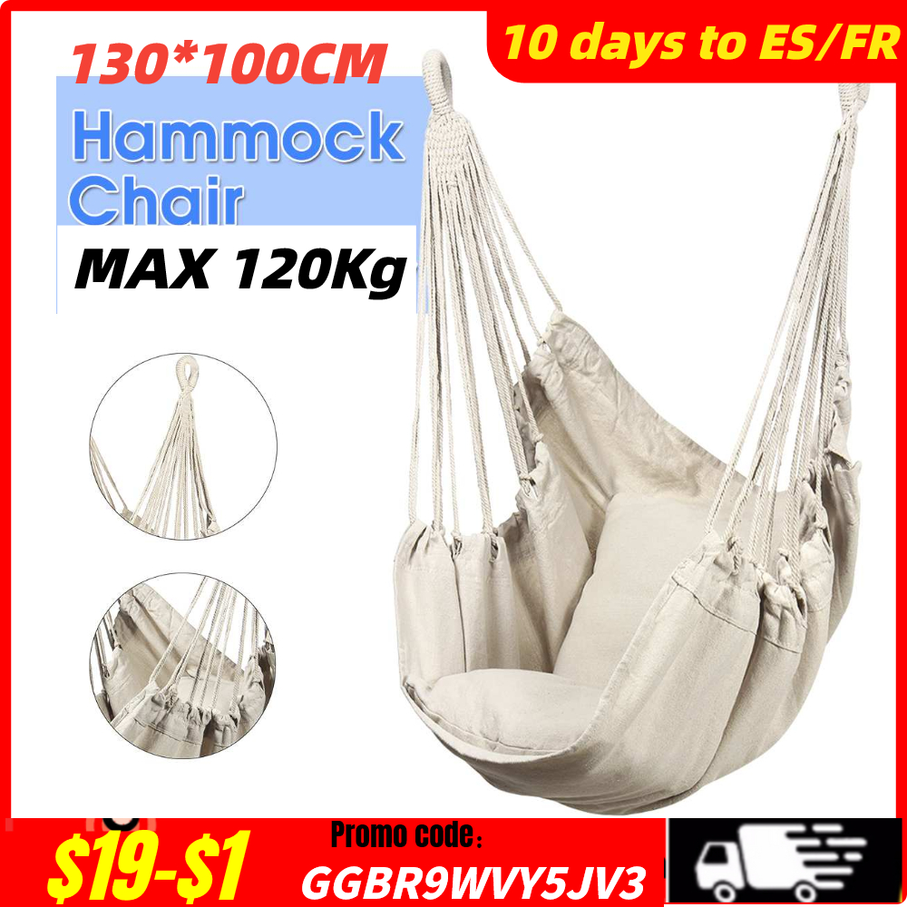 Hammock Chair Outdoor Indoor Garden Bedroom Furniture Outdoor Hanging Chair For Child Adult Safety Camping Swing Chair