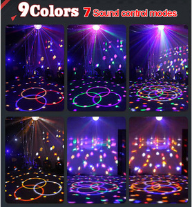 Image 5 - Upgrades Crystal Magic Ball Led Stage Lamp 7 Voice Control Modes 9 Colors Stage Lighting Disco Laser Light Party Lights Lumiere
