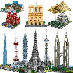 Micro Bricks Mini Blocks yz Architecture Triumphal Arch Pyramid Sets Kids Toys Expert London Paris Eiffel Town Compatible legoed