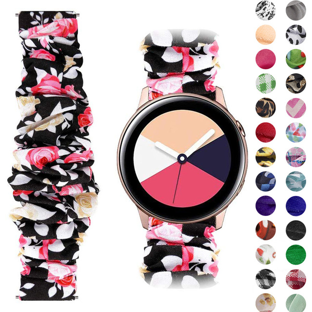 20 22mm Scrunchies Elastic Watch band For samsung galaxy watch 46mm active 2 42mm huawei watch GT2 Strap gear s3 amazfit bip