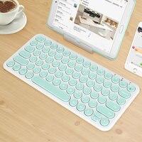 Round Keycap Silent Gaming Keyboard Bluetooth Wireless Keyboard For Macbook Pro iPhone iPad Tablet Ultra-slim Computer Keyboard