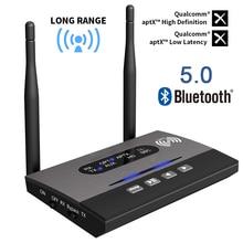 Bluetooth 5.0 מקלט משדר ארוך טווח NFC אודיו מתאם AptX LL HD אופטי 3.5mm RCA AUX עבור טלוויזיה /בית סטריאו