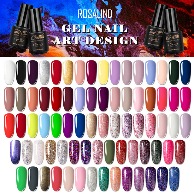 ROSALIND 7ML Nail Polish Gel Varnish Hybrid UV For Manicure Off Gellak White Prime Nail Art gel Extension nail polish 1