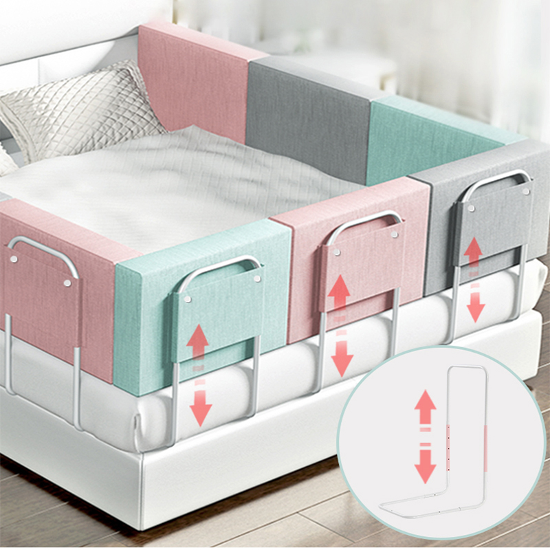 Baby Playpen Crib Height Adjustable Anti-collision Children's Bed Fence Multifunctional Environmental Protection Bed Safety Rail
