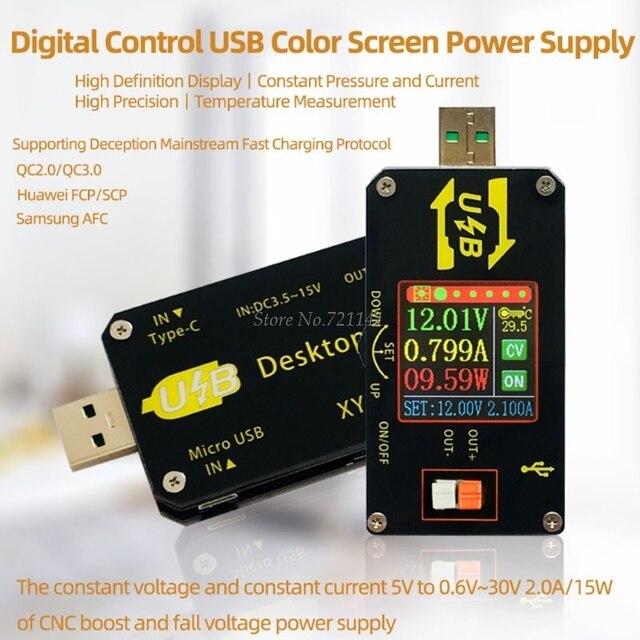 USB DC DC باك دفعة محول 0.6 30 فولت 5 فولت إلى 9 فولت 12 فولت 24 فولت LCD وحدة امدادات الطاقة الجهد المنظم LCD محول دروبشيب