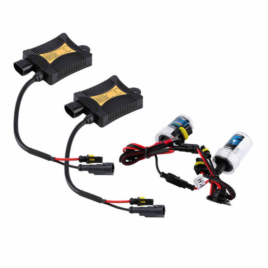 2 stks/partij 55W DC 12V Xenon HID Kit H7 6000K Witte Kleur Warm Wit Hoofd Licht Auto auto Lamp Koplampen Single beam &