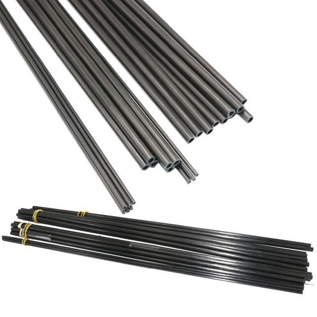 16 pièces/lot nouveau Tube en Fiber de carbone 3K 3mm/4mm/5mm/6MM/7MM/8MM/10MM pour quadricoptère multicopteur (0.5 meter/pièces)