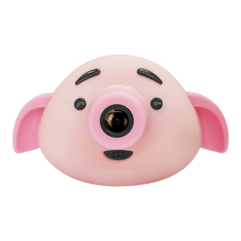 Kids Camera Children Fun Cameras Pig Shaped 1.8 Inch 300Mp 1080P Hd Children Front Rear Double Lens Wide Angle 120 Usb Cable