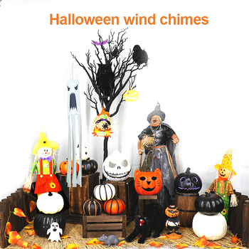 New Halloween Hair Dryer Flag Wind Sock Wind Chime Decoration Props Halloween Holiday Decoration image