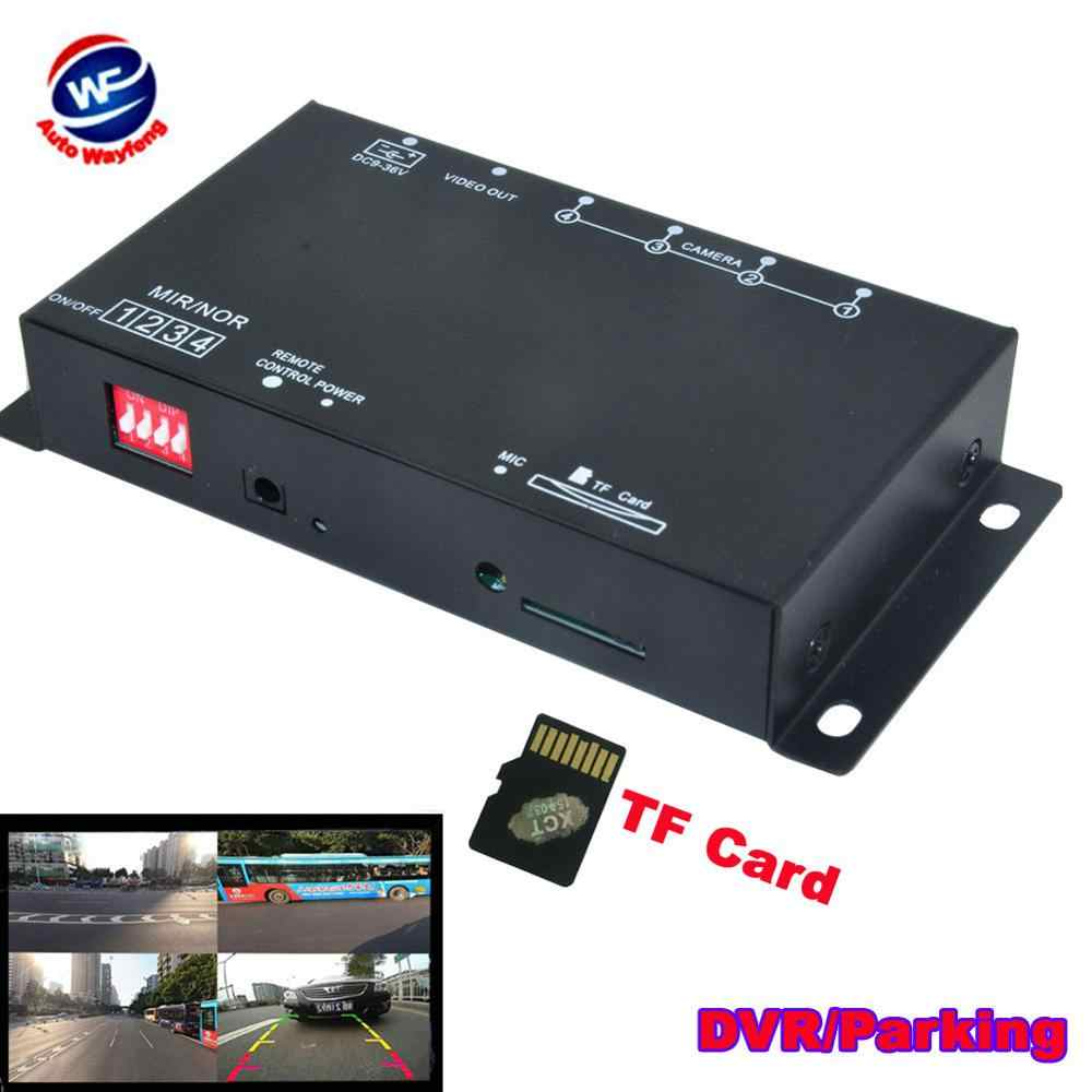 Auto Dvr Recorder 9-36V / Parking Assistance Video Switch Combiner Box 360 Graden Links/Rechts/voor/Achter Camera