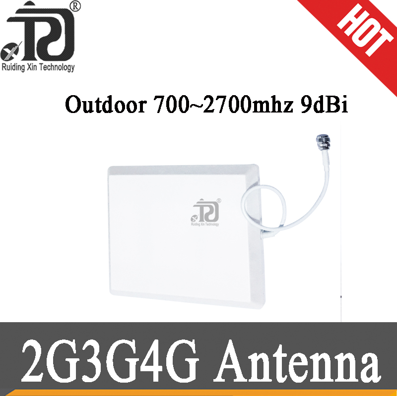 2g 3g 4g Outdoor Internal Antenna 2g 3G 4G LTE Panel Outdoor Antenna 700-2700 With N-female Cell Phone Booster Repeater Antenna