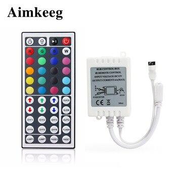 44 Keys Led Controller LED IR Remote RGB Controller Lamp Dimmer DC12V 6A for RGB 3528 2835 5050 LED Strip Light 1pcs new 12v 6a mini 24key 44key ir remote controller rgb led controller for 3528 5050 rgb led strip light