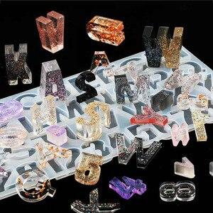 Image 1 - DIY Кристалл УФ отверждаемая эпоксидная смола цифры 26 формы для букв высокое зеркало ремесла изготовление силиконовой формы для смолы DIY ювелирных изделий Аксессуары