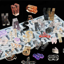 FAI DA TE di Cristallo UV Resina Epossidica Numeri 26 Lettere Della Muffa Ad Alta Specchio Mestieri Fare Stampo In Silicone Per Resina FAI DA TE Monili Che Fanno funzione di accesso