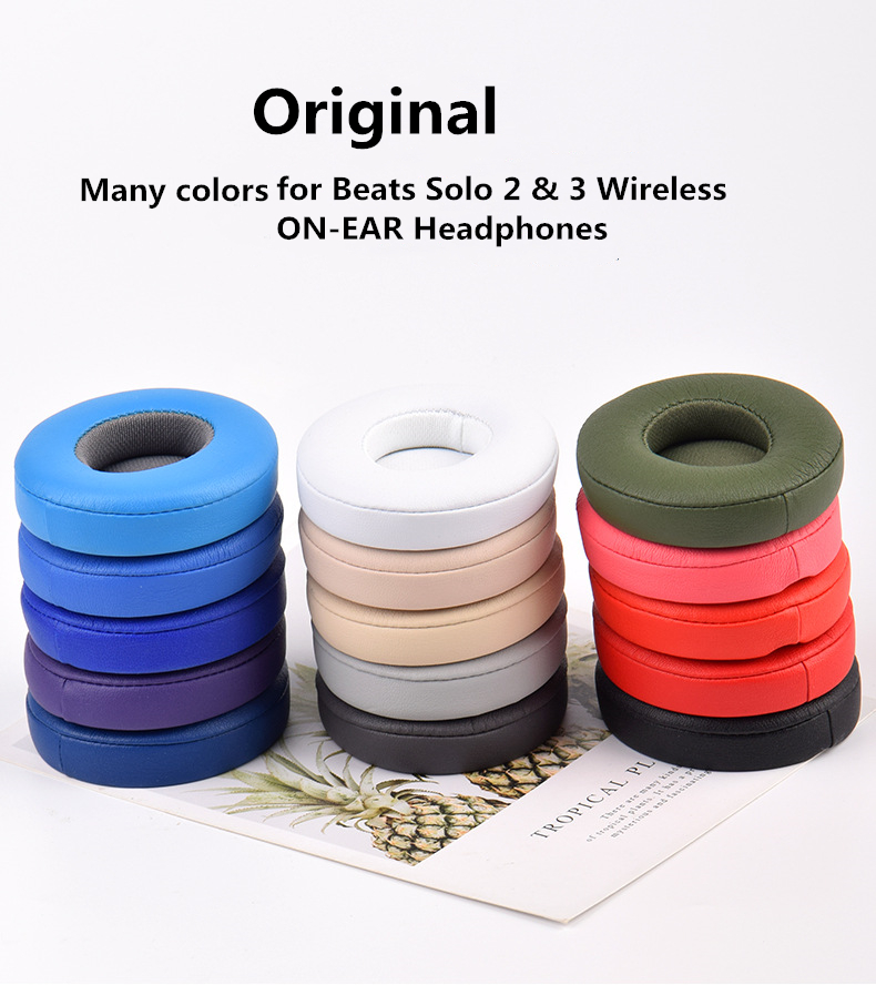 Original Premium Earpad Replacement Easy To install Cushions for Beats Solo 2  amp  3 Wireless ON-EAR Headphones