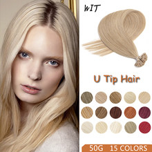 WIT 15 kolorów U końcówki przedłużanie włosów 12-28