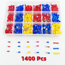 1400pc insulated wire connector, RV butt crimping power supply U shovel ring fork terminal kit cold crimp terminal auto parts M5