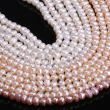 Natural Freshwater Cultured Pearls Beads Round 100% for Jewelry Making Necklace Bracelet 13 Inches Size 3-4mm
