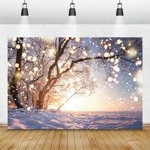 Laeacco зимние фоны для фотосъемки фотофоны со снегом Рождественская