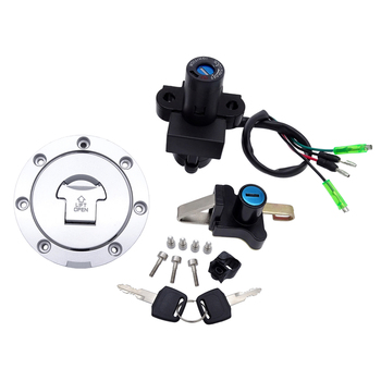 Motorcycle 4 Wires Ignition Switch Petrol Oil Fuel Gas Tank Cap Seat Cover Lock Key Set for Honda NSR125 NSR 125 RX 1993 - 2004 topauto 4 5l car fuel tank cap cover key oil gasoline diesel stainless steel storage petrol bucket car motorcycle accessories